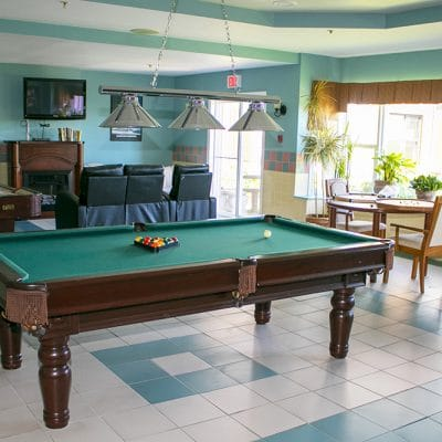Pool table, shuffle board, and other games